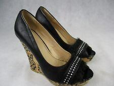 """Ladies 4 1/2"""" Wedge High Heel  Peep Toe Shoe by Wilady  UK 5 EU 38"""