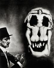 1951 Salvador Dali Skull of Nudes Photo - Naked Women Skull Bizarre Odd Strange