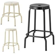 Ikea RÅSKOG Bar Kitchen General Use Stool,Black,Beige,45 & 63cm,Round Metal Body