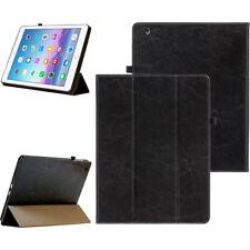 Premium Leder Schutzhülle f. Apple iPad 2 Tablet Tasche Hülle Cover Case schwarz
