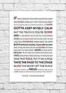The Script - If You Could See Me Now - Song Lyric Art Poster - A4 Size