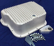 727, A518, 46RE DOUBLE DEEP TRANSMISSION PAN, DODGE RAM, DIESEL, FINNED ALUMINUM