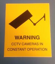 CCTV Warning Stickers Self- Adhesive vinyl Labels 125 x 150mm PACK OF 2