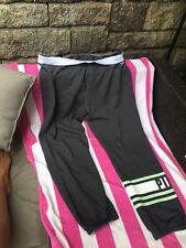 Victorias Secret Pink GRAPHIC Logo Skinny Pants Sweatpants NWT Large Mint
