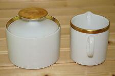 """Thomas """"Gold Band"""" 701 Creamer, 2 3/4"""" & Sugar Bowl, 2 3/8"""" with Lid"""