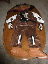 Disney Store Jack Sparrow Pirate Costume childs XS 4/5