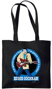Eddy Cochran - Summertime Blues - Tote Bag (Jarod Art Design)