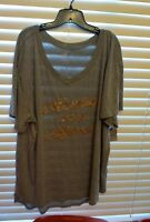 NWT BELLE + SKY Women's Plus Size Short Sleeve Tee Top sz 3 x