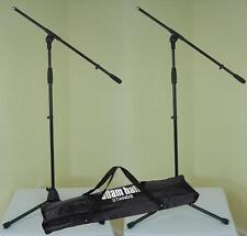 2 x Mikrofon-Stativ ECO mit Tasche Mikrofonständer mit Schwenkarm ADAM HALL NEU