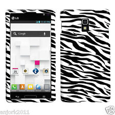 LG Optimus L9 T-Mobile P769 Snap-On Case Cover Accessory Black White Zebra