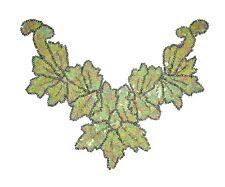 Sequin Bead Applique Belly Dance Motif Necklace Green