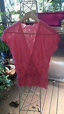 GEORGE PRE-LOVED POLYESTER GIRLY BLOUSE SIZE 8 MADE IN AUSTRALIA  .