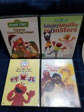 Sesame Street DVDs - preowned - good condition Lot of 4