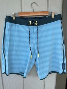 """Depactus boardshorts mens size 33 Head High 9"""" inseam light blue Recycled Poly"""