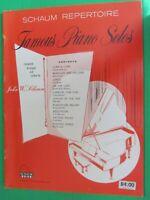 1970 SCHAUM CONTEMPORARY COMPOSERS COMPOSITIONS FOR PIANO 32 pp.(H or GRADE 5)