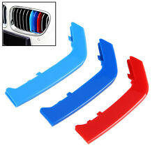 M Color Sport 3D Plastic Kidney Grill Grille Bar Cover Trim For BMW 3 Series F30