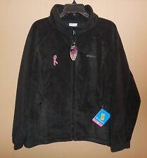 New Womens 2X COLUMBIA Tested Tough Ribbon Benton Springs Fleece Jacket Black