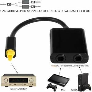 Adattatore x cavo audio fibra ottica Toslink  splitter ottico 2 in 1 convertitor