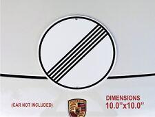 """AUTOBAHN - NO SPEED LIMIT SIGN  /  10"""" x 10""""  EUROPEAN GARAGE"""