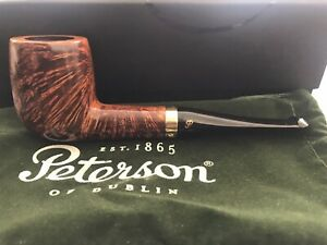 Peterson Pipe Supreme Gold Mounted Shape X105 NEW
