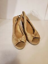 Seychelles Colada Canvas Cork Espadrilles Wedge Sandals Women's Size 10
