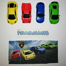 LAMBORGHINI COMPLETE SET OF 4 WITH ALL PAPERS KINDER SURPRISE 2019/2020