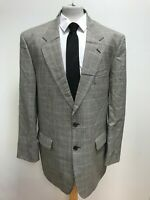 G949 MENS M&S St MICHAEL BLACK WHITE BROWN CHECK WOOL BLAZER JACKET UK XL EU 54