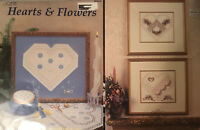 Lot Of Two Hardanger Embroidery Leaflets- Hearts & Flowers & Heart Of My Heart