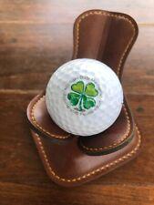 Logo Golf Ball Michael Day Memorial Scholarship Foundation Lucky Clover