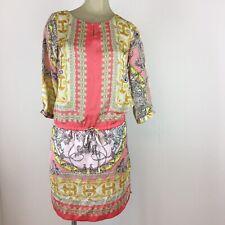 Jennifer Lopez woman's dress size small orange yellow pink pattern