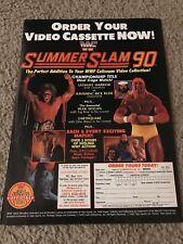 1990 WWF SUMMERSLAM VHS Video Poster Print Ad HULK HOGAN THE ULTIMATE WARRIOR
