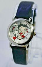 2004 Ladies BETTY BOOP by Valdawn Watch, Pudgy Heart, Silver Tone, Black 5171
