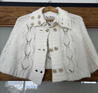 Guess Jeans Authentic Knitted Cropped Cardigan Shaw  Sweater Medium/Large