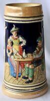 ?West German Ceramic Painted Beer Tankard 18cm high 650g