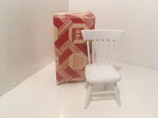Vintage Dollhouse Miniatures White Wood Chair NEW #33