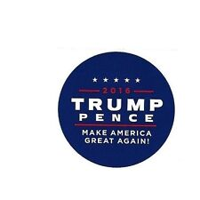 1 DONALD TRUMP MIKE PENCE OFFICIAL CAMPAIGN STICKER 2016 PRESIDENT *RARE*