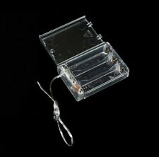 Transparent Battery Holder For 4.5V 3-AA Cells Case Box  ON/OFF Switch