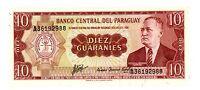 Paraguay ... P-196b ... 10 Guaranies ... L.1952 ... *UNC*