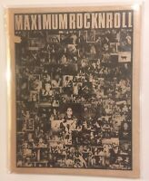 maximum rocknroll MRR 48 May 1987 Mr T Experience Accused Rare OOP Punk Magazine