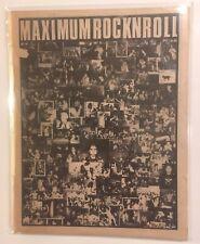 maximumrocknroll #48 May 1987 Mr T Experience Accused Rare Punk Fanzine MRR