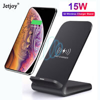 15W Fast Qi Wireless Charger Dock Stand Station For iPhone 11 Xs Max Galaxy S10+