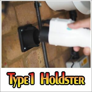 Type 1 (J1772) Plug Holder, Keeps Type 1 Plug Dry, Clean and Out of the Way