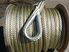 New 38 X 100 Double Braid Nylon Goldwhite Anchor Line