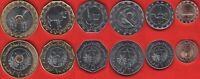 Mauritania set of 6 coins: 1/5 - 20 ouguiya 2017-2018 UNC