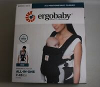OPEN BOX Ergobaby Omni 360 All-in-One Pure Black Carrier Free S/H