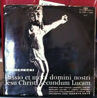 Penderecki. The Passion and Death of our Lord Jesus Christ. Acc to Luke Vinyl LP