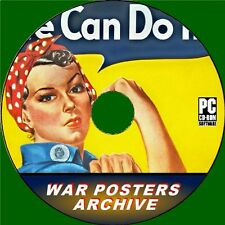 MASSIVE WAR POSTERS COLLECTION PC-CD OVER 4500 NOSTALGIC IMAGES FROM WW2 YEARS