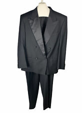 GIORGIO ARMANI  Men's Black Wool Tuxedo Jacket 40 R 34 x 31 Pants