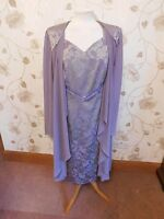 DRESSED UP BY  VEROMIA SUIT SIZE 16 MOTHER OF BRIDE BRAND NEW Purple