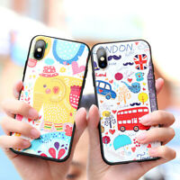 TPU Embossed Cartoon Phone Case Cover for iPhone X XS XR XSMAX 7 8 7Plus 8Plus